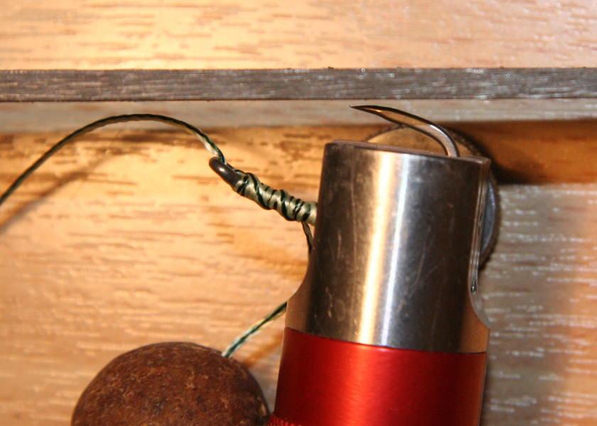 hook sharpening filing the hook point