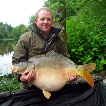 Jamie with Galazy at 34lbs