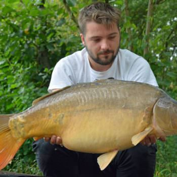 Philip with Lily a 30lb mirror carp