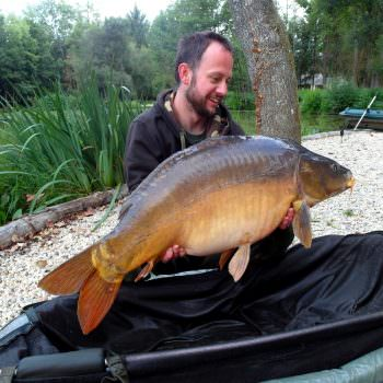 Ritch with Chestnut at 35lbs mirror carp