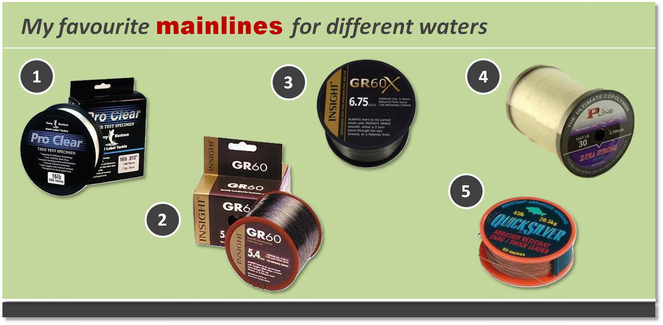 best mainlines for carp fishing 2016
