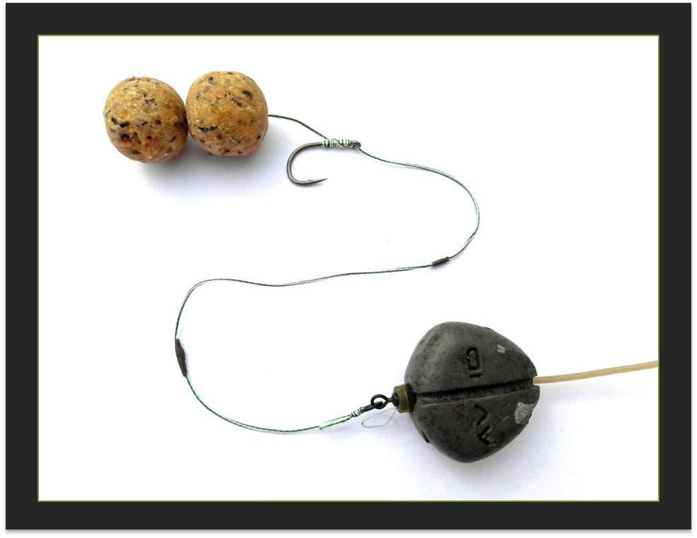 Matt s universal bottom bait inline carp rig how why it for Basic fishing rigs
