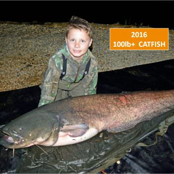 lennon with a 103lb catfish march