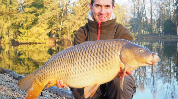 Alexandre with a 30lb common carp
