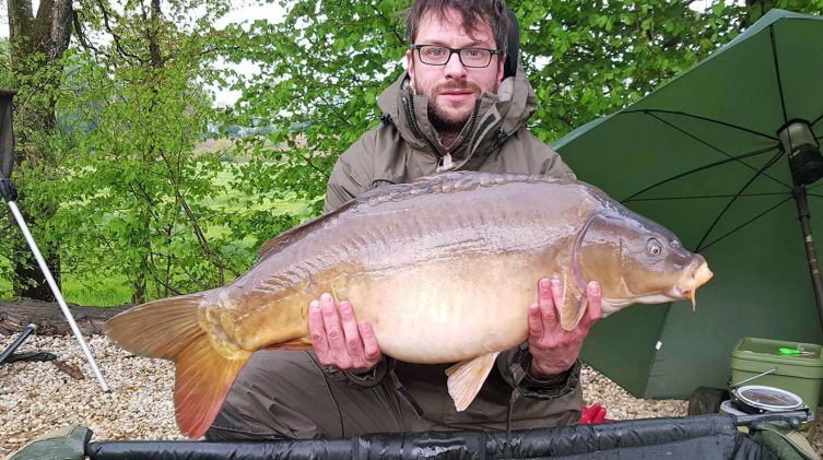 Dean with Lily at 30lbs 8oz