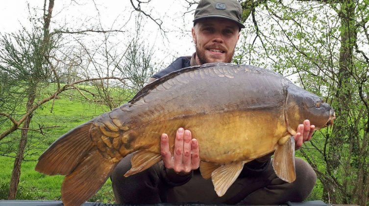 James with the Dark Knight at 32lbs