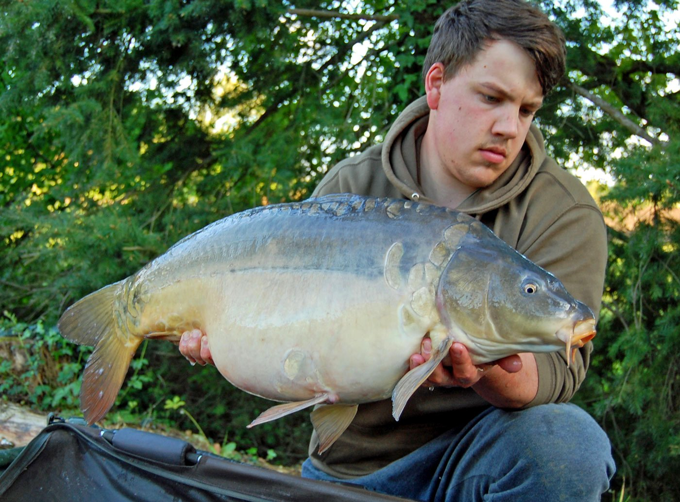 Adam with one of our latest additions Magnum at 30lbs 6oz