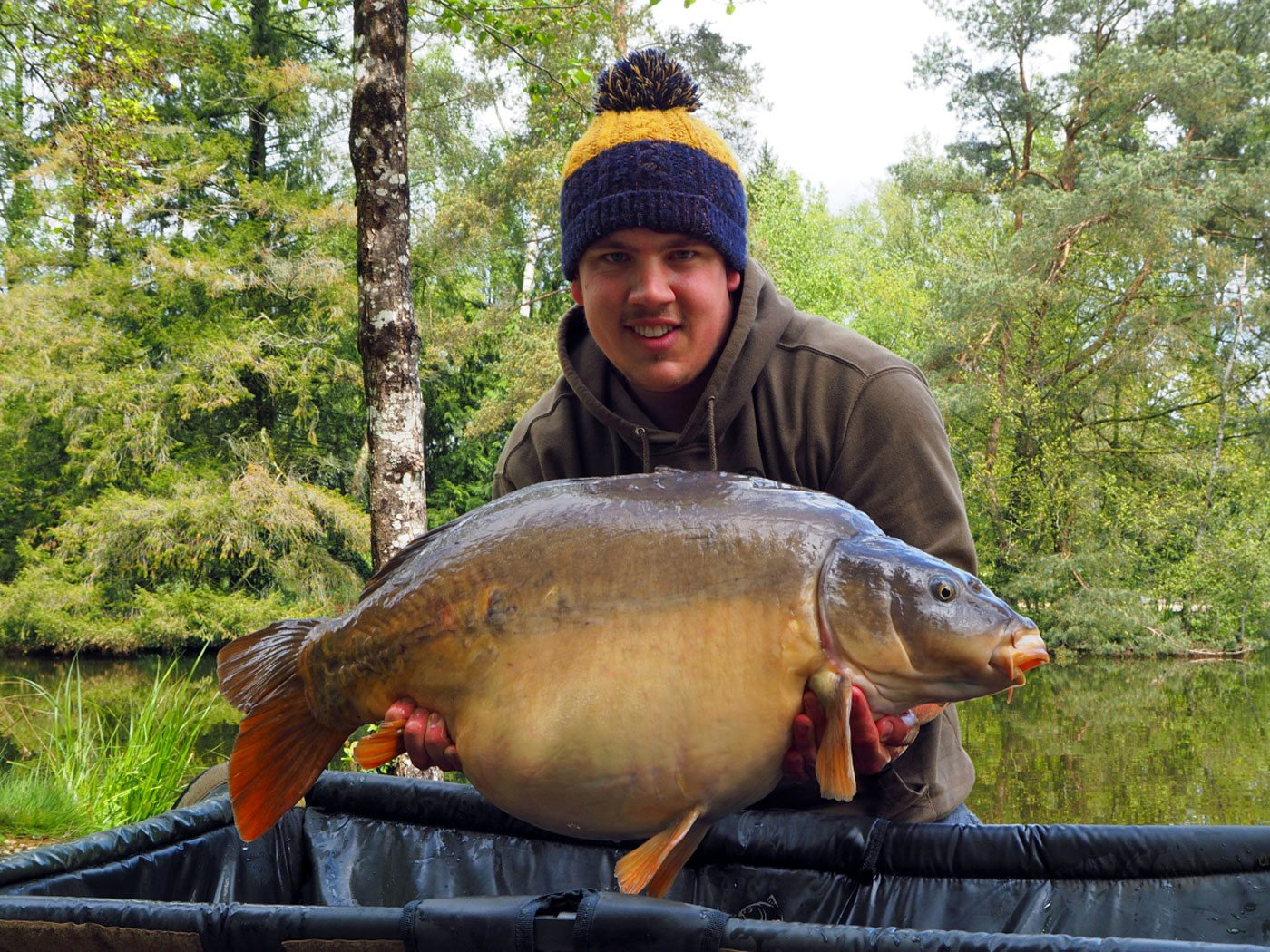 Adam with rarely seen Shorty at a top weight of 39lbs