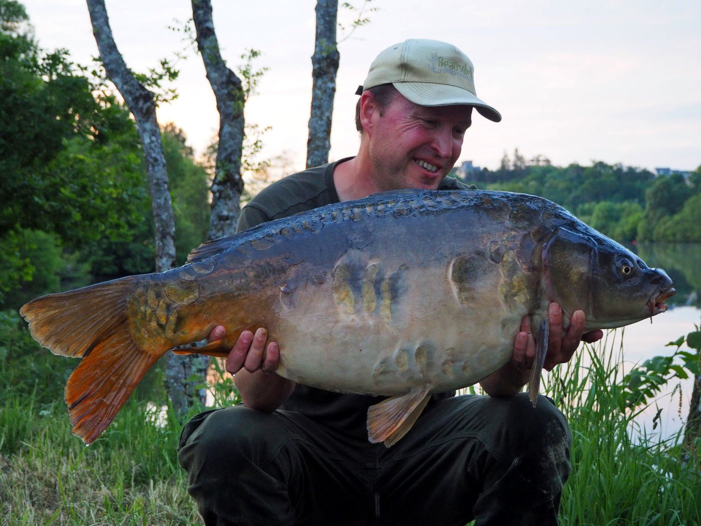 Matt with a 32lb river carp in May