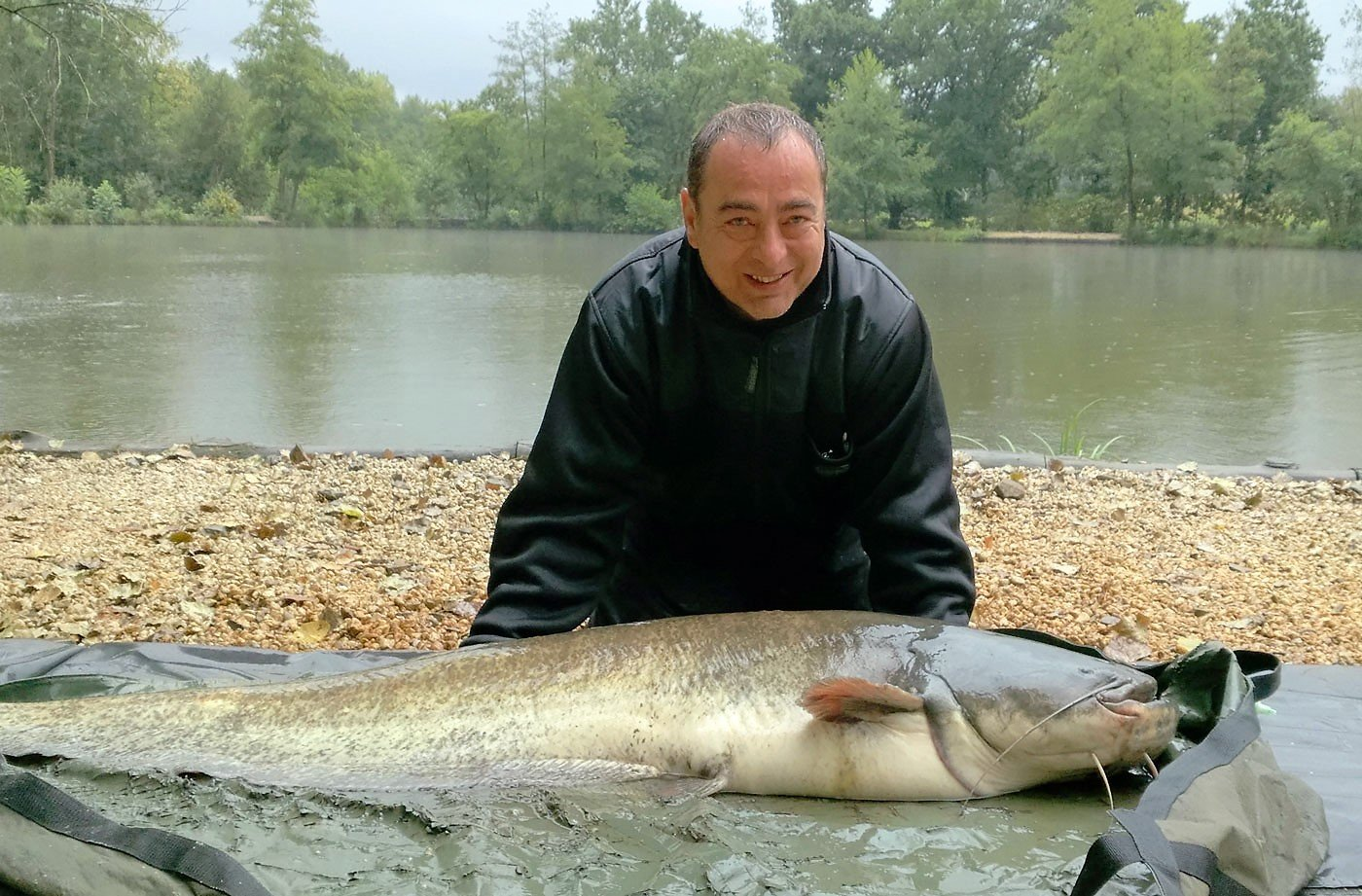 Bill with a 74lb catfish