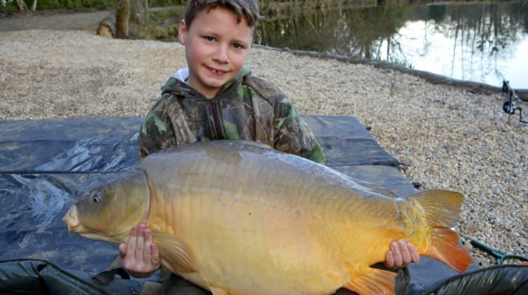 Lennon with Dink at 38lbs mirror carp