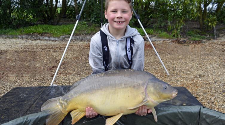 Lennon with Paws at 27lbs mirror carp
