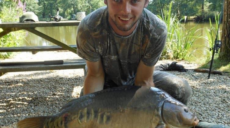 Steve with a 36lb carp