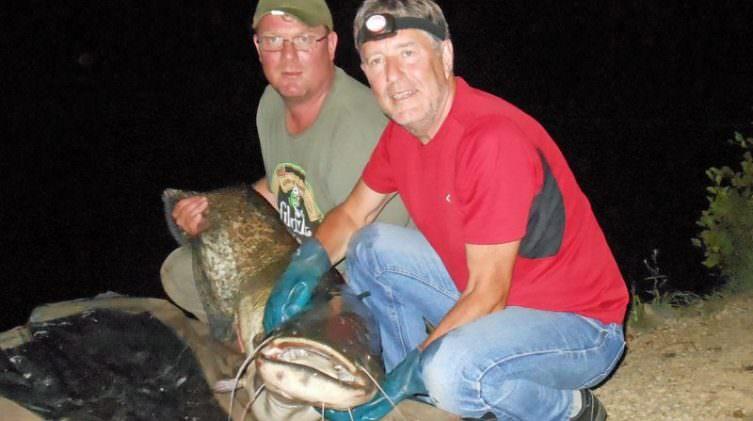 Stuart with an 84lb catfish