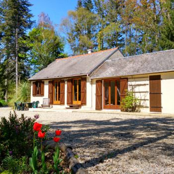 view of the exclusive accommodation for a carp fishing lake in france