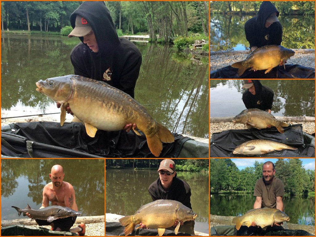 four anglers carp fishing in france exclusive