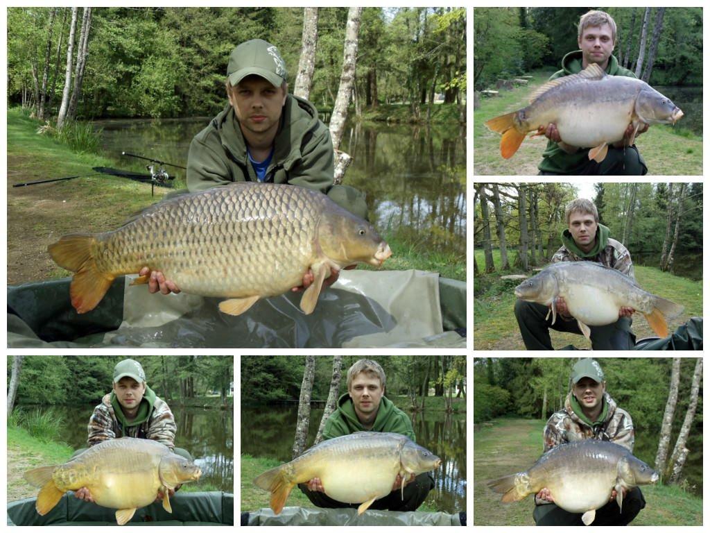 jon with big carp at beausoleil exclusive carp lake