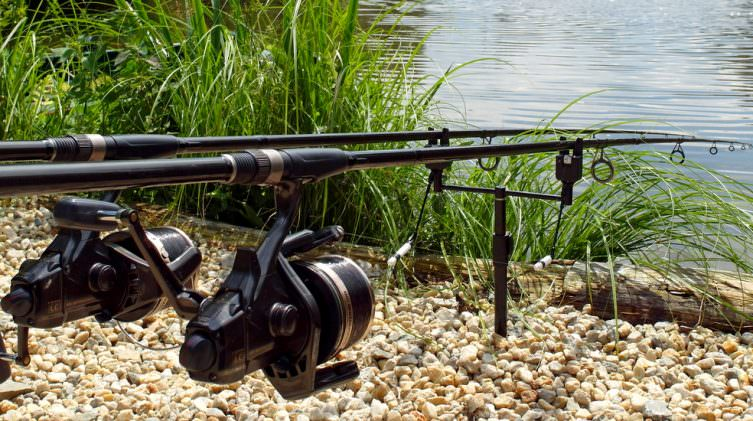 rods in the lake at french venue
