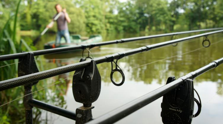 angler carp fishing at exclusive venue in france