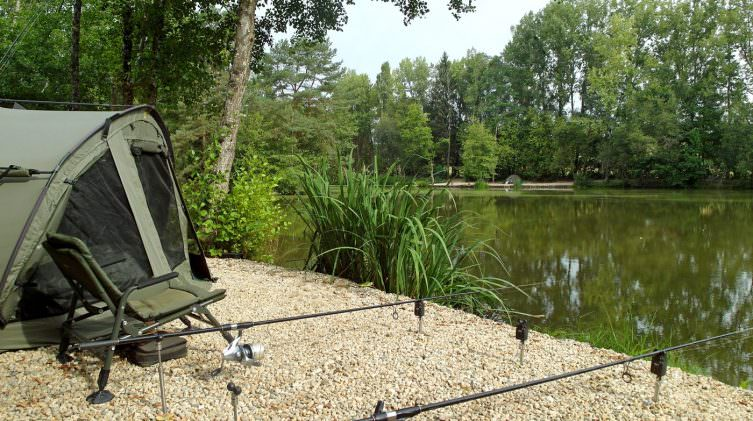 Bivvy and rods in the Big Double swim