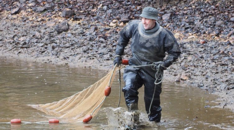 lake netting at Beausoleil