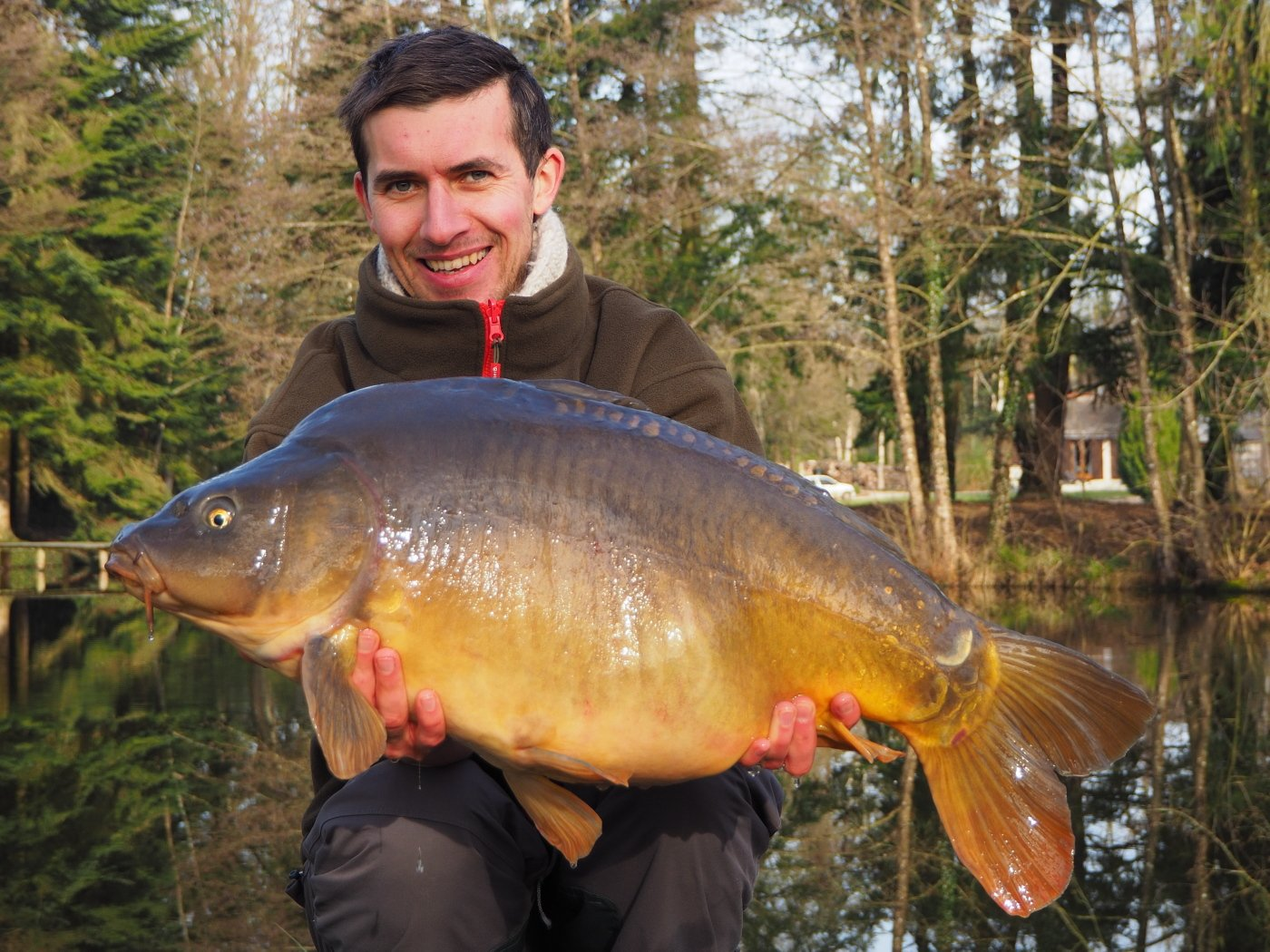 Alexandre with a 27lbs mirror carp