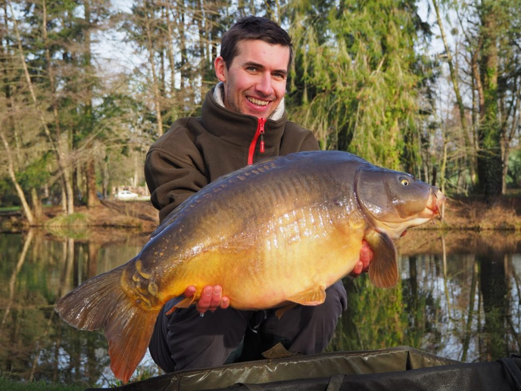 Alexandre with a 27lbs mirror in february