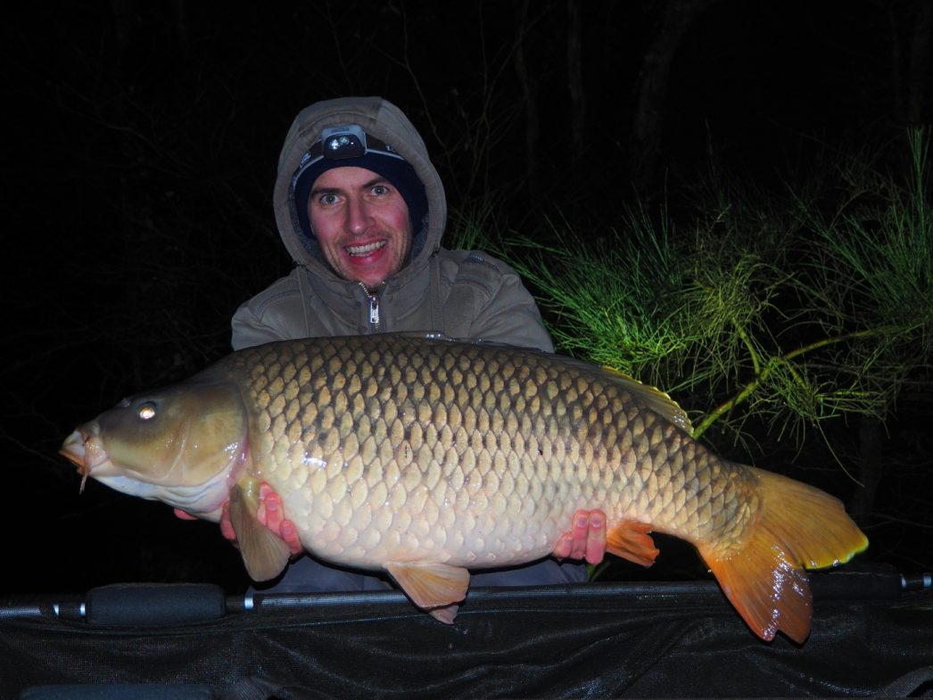Alexandre with a common carp of 32 pounds