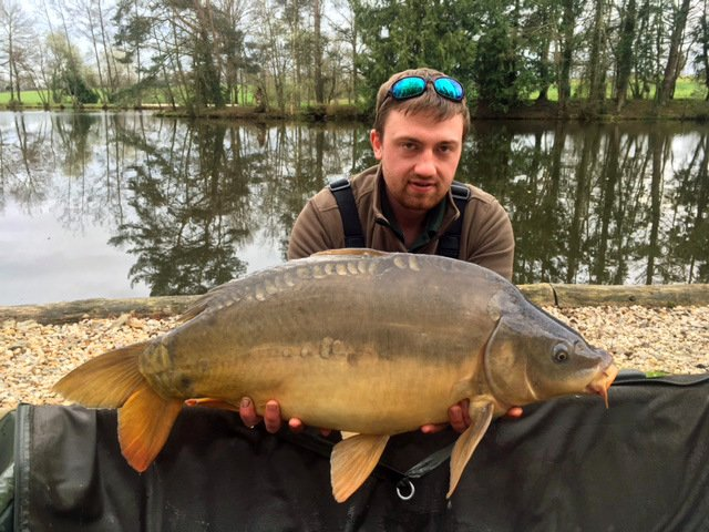 Luke with the Dark Pearl at 27lbs 8oz