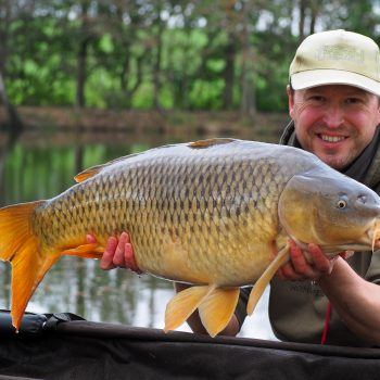 Matt with a 25 pounds common carp