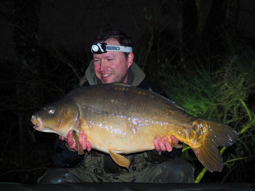 Matt with a 26 pounds mirror carp