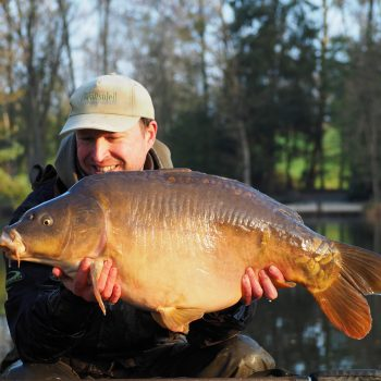 Matt with a 31 pounds mirror carp