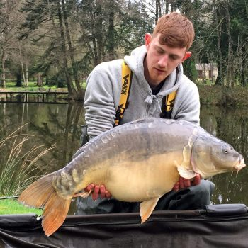 angler carp fishing in france in late march