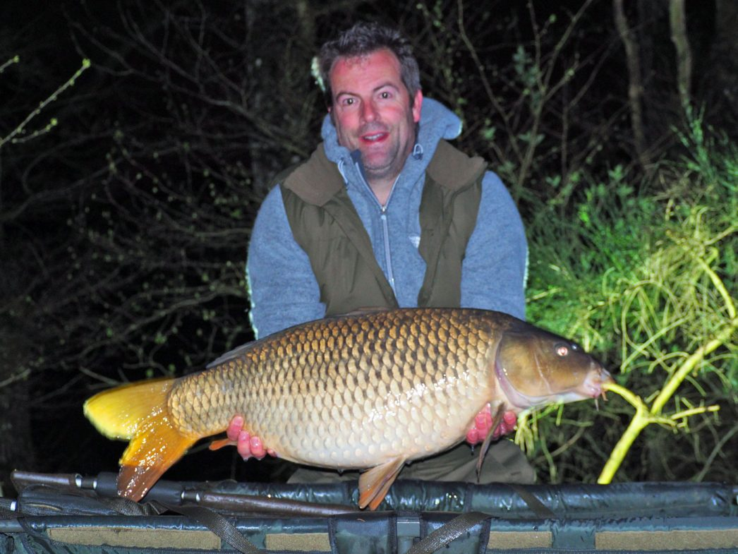 Ed with a 30lbs common carp