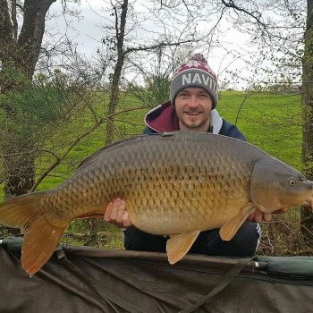 Elliot with another 27lbs common carp