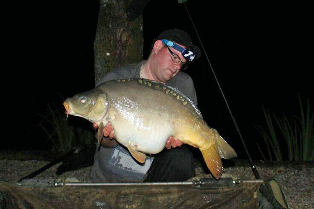 Kevin with Domino at 32lbs 8oz