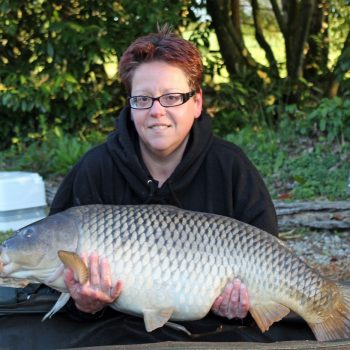 Loes with a 28lbs common carp