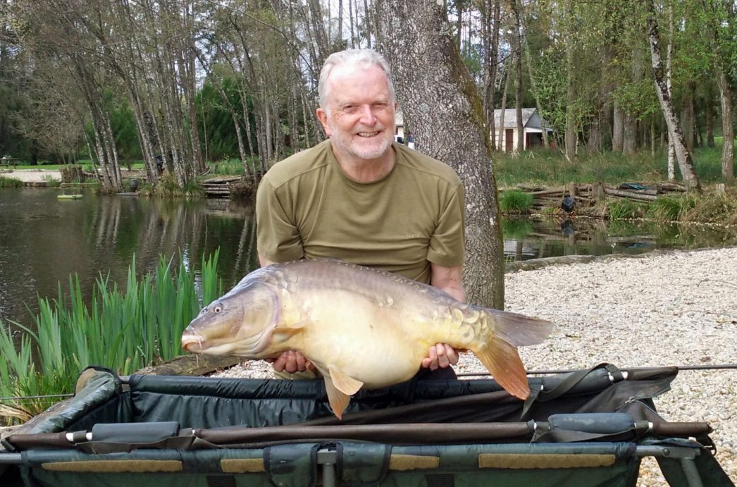 Richard with one of 4 carp he landed on his last day