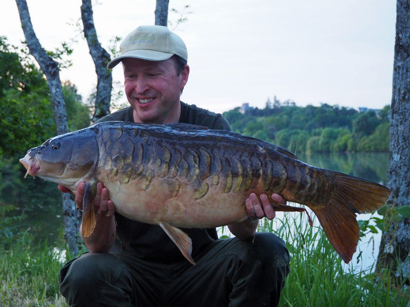 Matt with a 26lb 8oz river carp in May