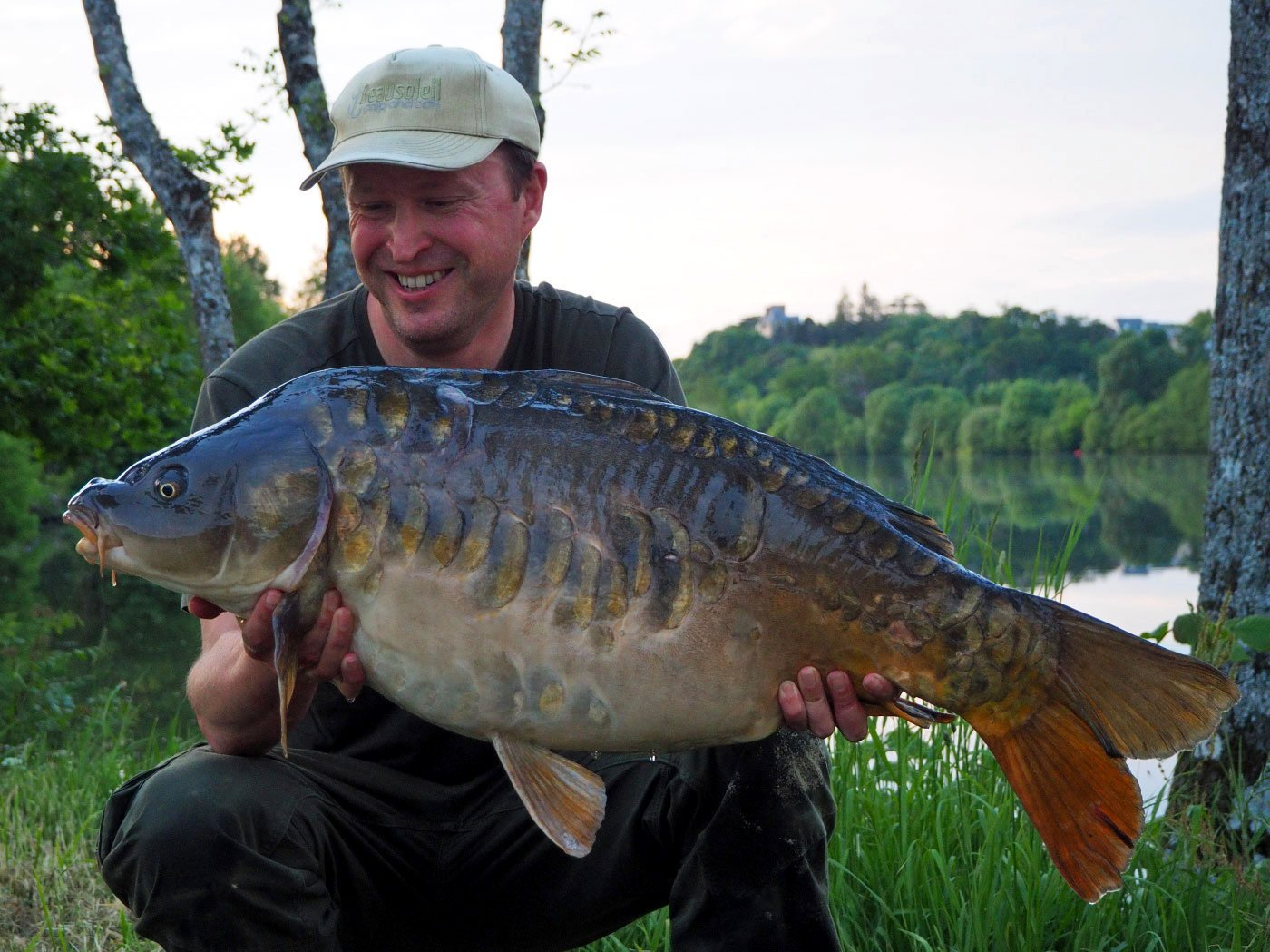 Matt with a new PB river carp of 32lb