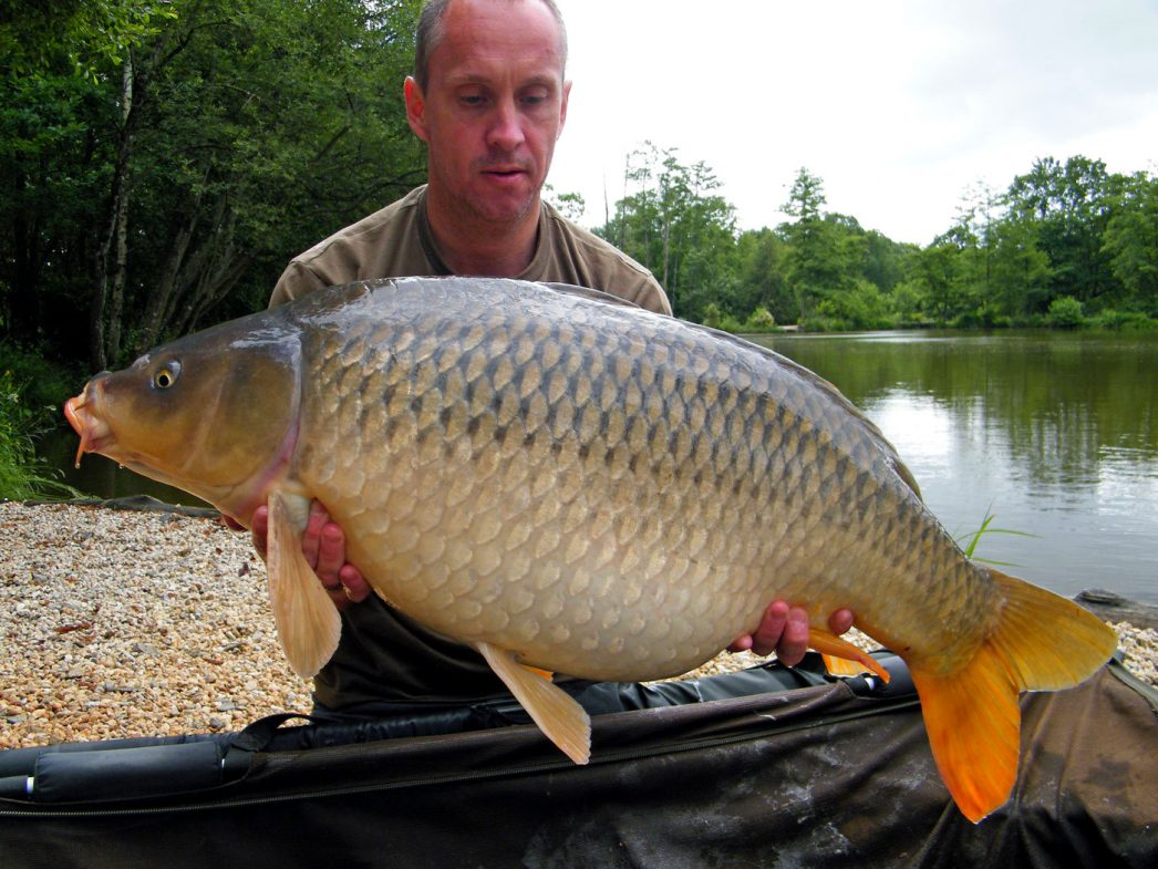 Maurice with a 34lbs common carp