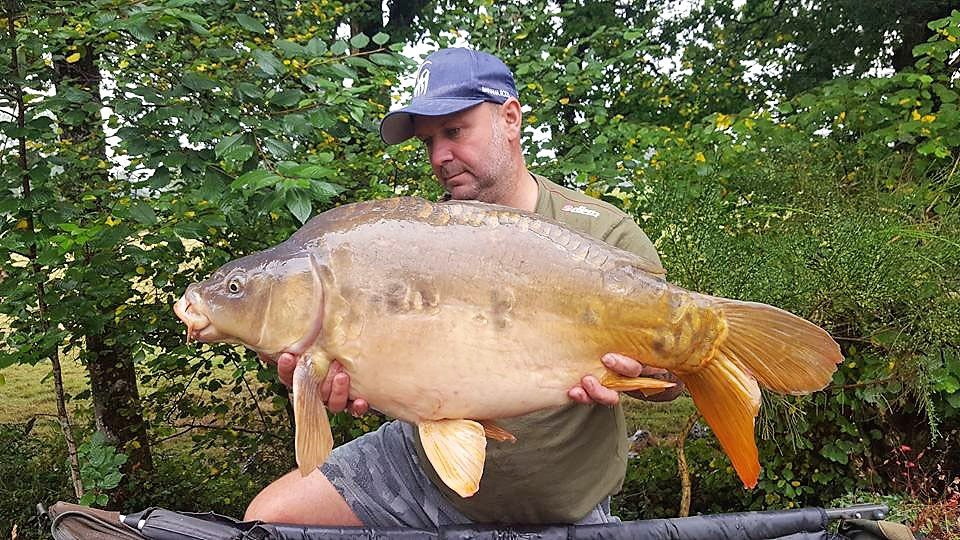Ian with Bournville at 28lbs