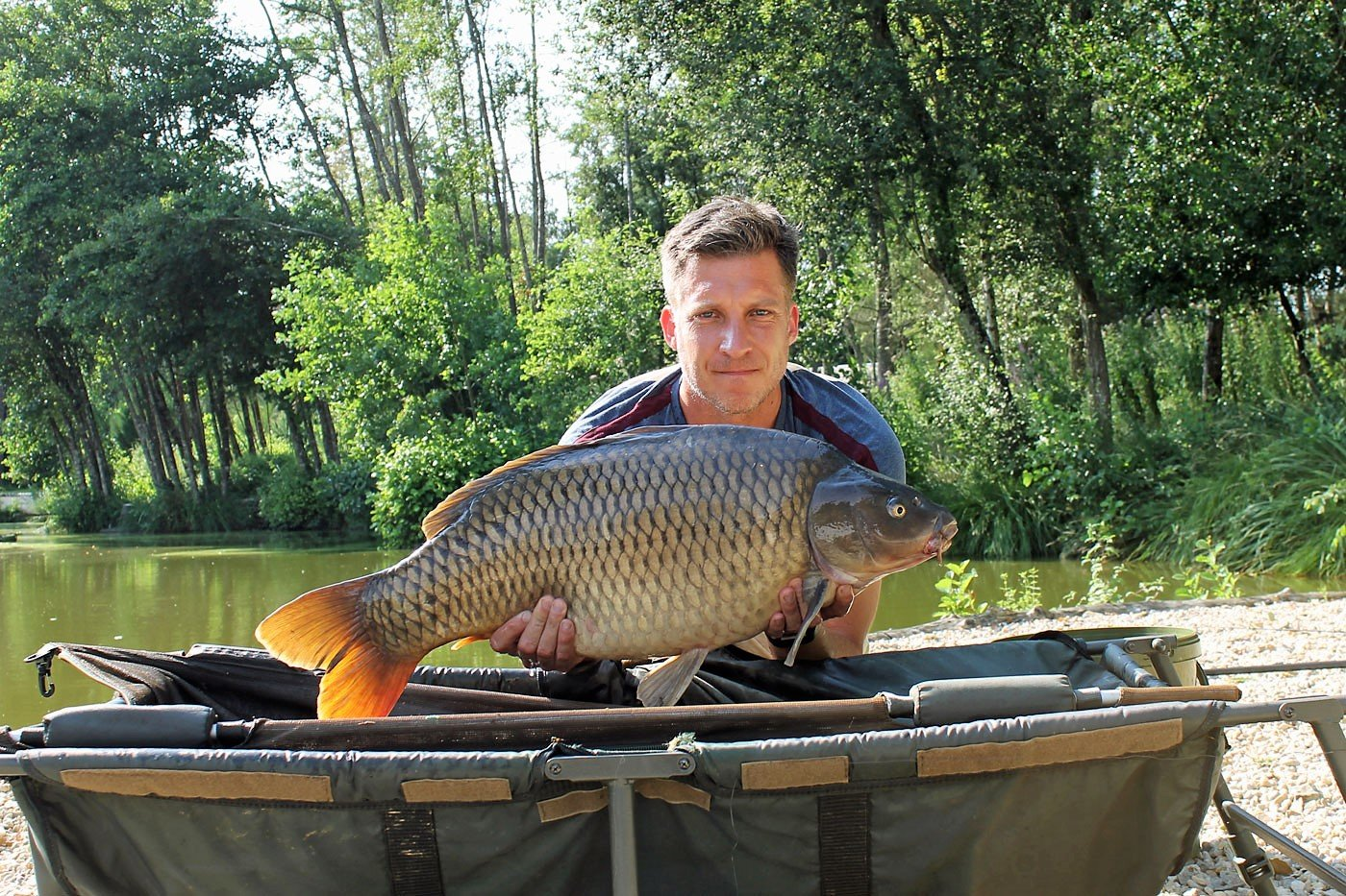 Jon with a 30lb common
