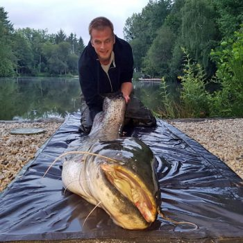 Mark with a 101lbs catfish