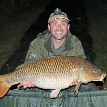 Simon with a 27 common carp