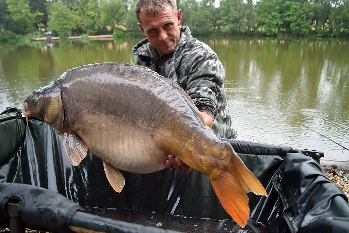 Chris with Domino at 31lbs
