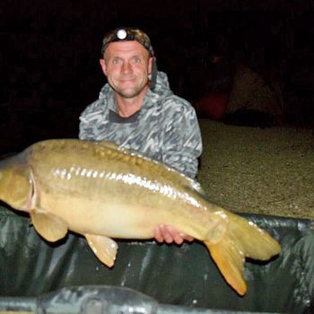 Chris with a 25lb mirror