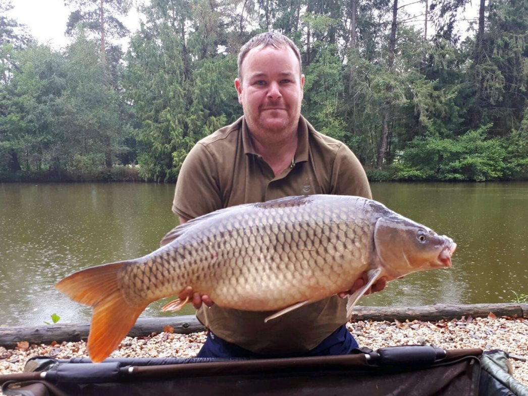 Jay with a 28lbs common
