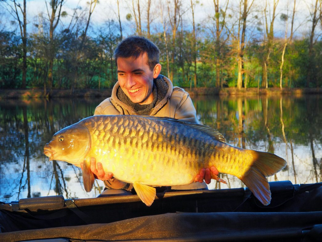 Alexandre with a 25lb mirror carp