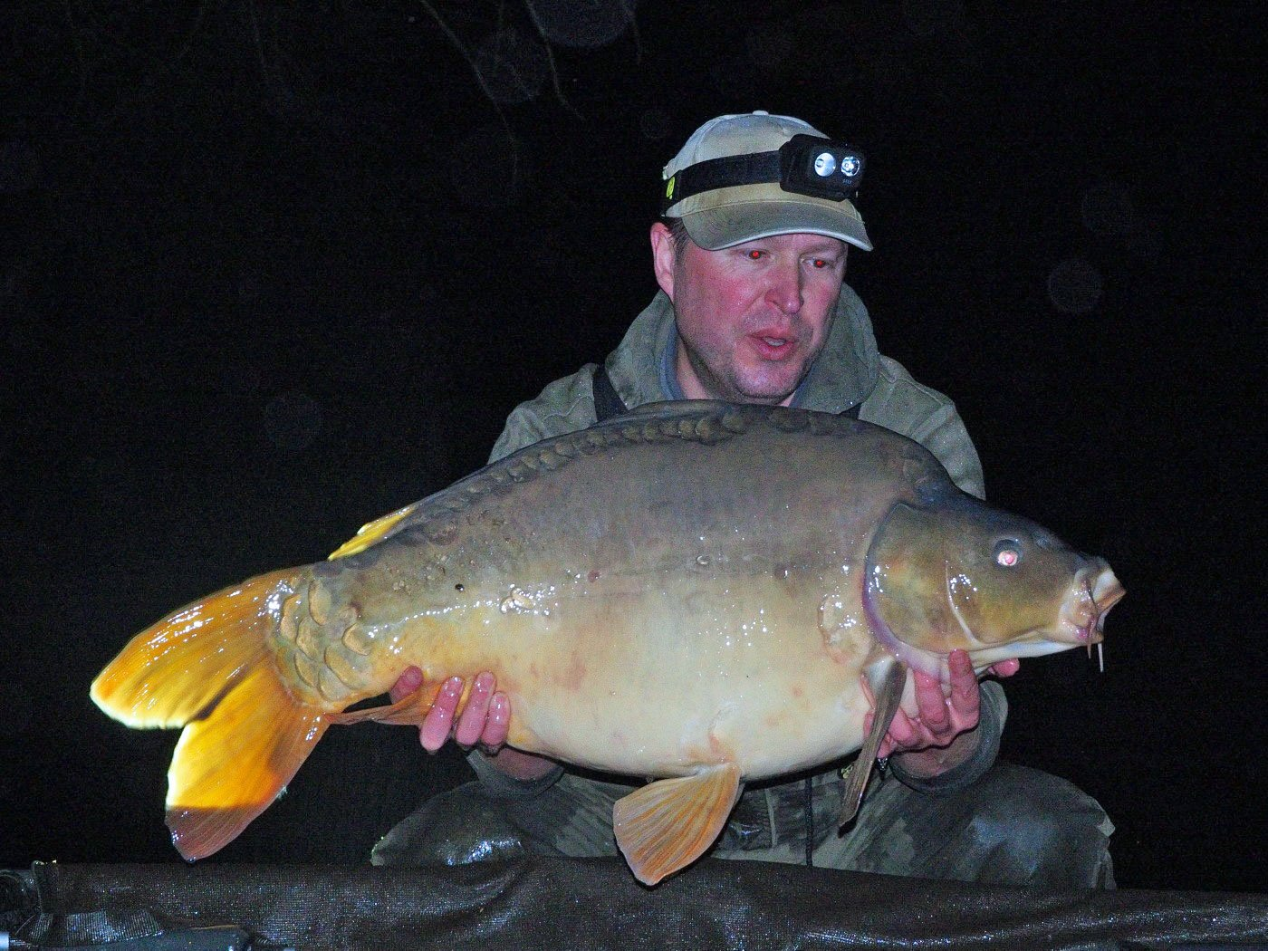 Matt with Batman at 32lbs 4oz
